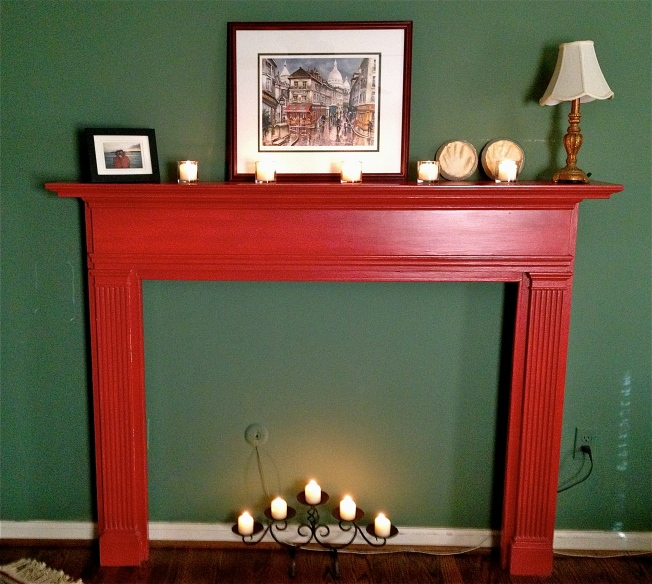 Repurposed Vintage Fireplace Mantle
