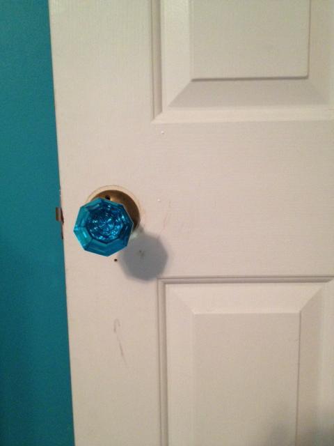 Vintage Crystal Doorknob