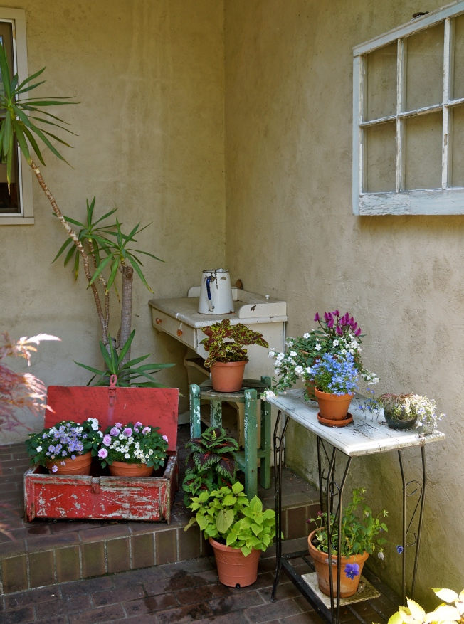 Vintage Finds for a Patio Garden