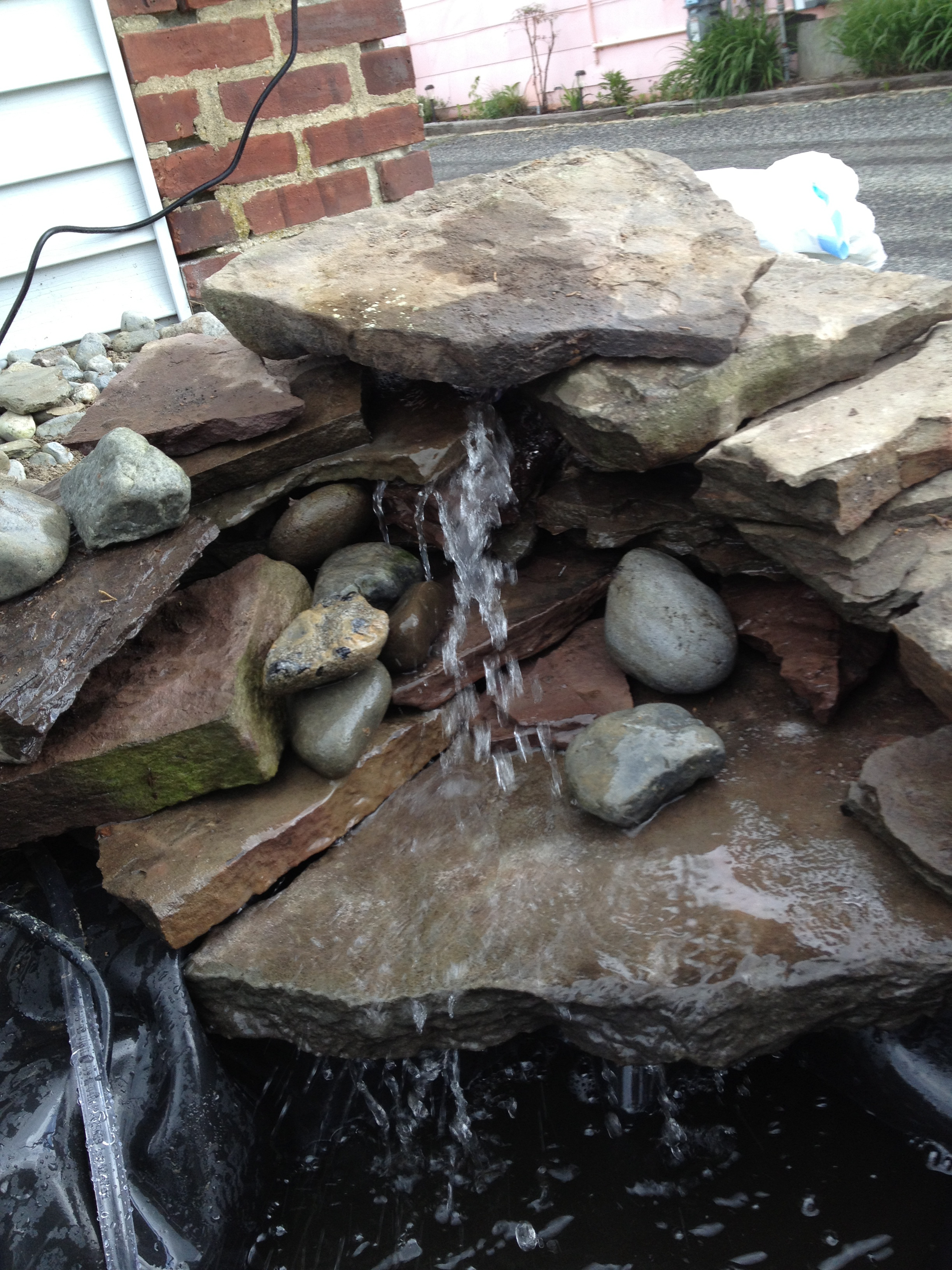 How To Build A Garden Waterfall Pond A Girl 39 S Guide To Diy