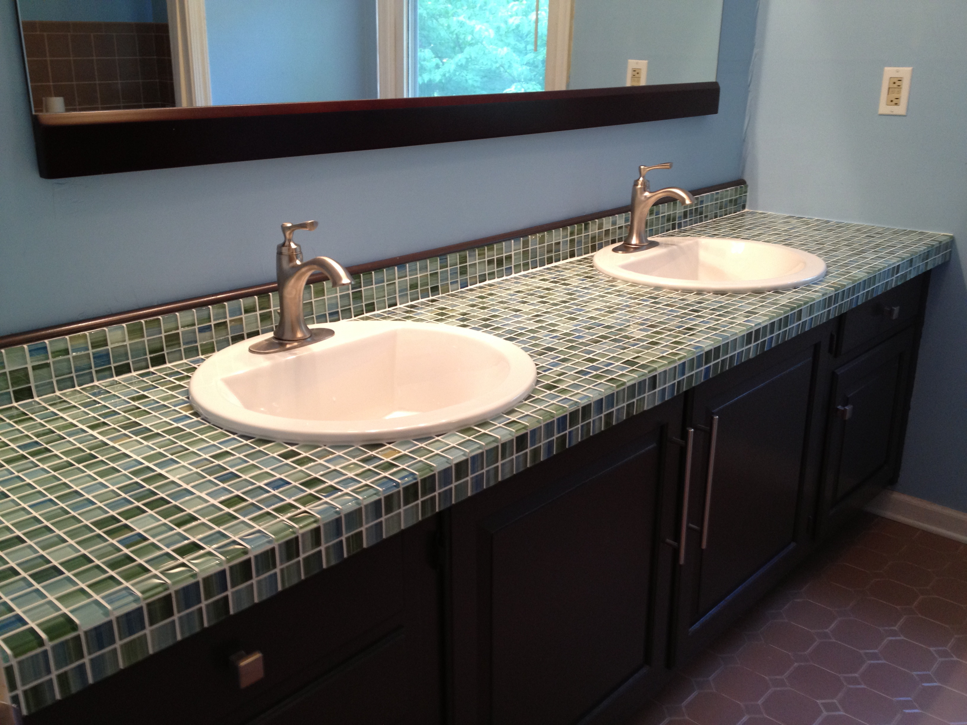 concrete green with an pin aggregate options cost sink integrated countertops glass ramp countertop and