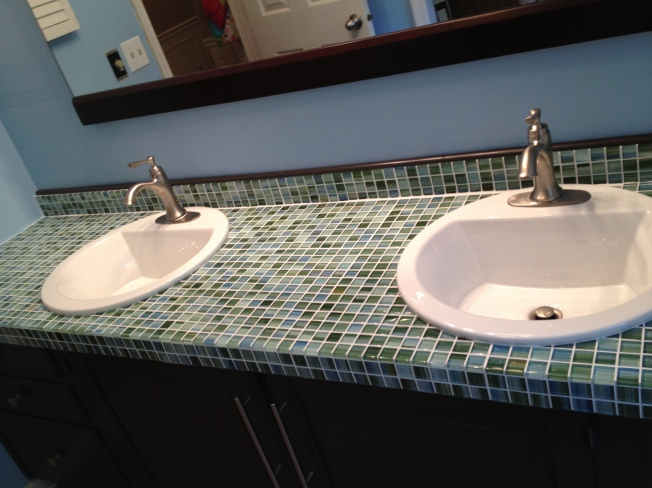 Glass Tile Mosaic Countertop